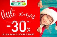 Logo Pittarello ''Little XMas'' sconto - 30% su un paio di scarpe bimbo