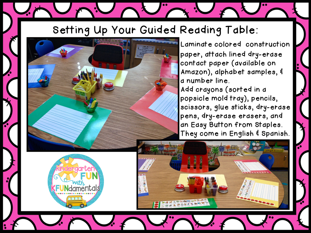 guided reading During shared reading in the kindergarten classroom, teachers guide the entire class through stories with a high level of support it is considered guided reading at this level.