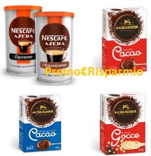 Logo Buoni sconto Nescafè Azera, Perugina Cacao polvere e Gocce di Cioccolato