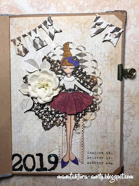 wpis noworoczny w art journalu