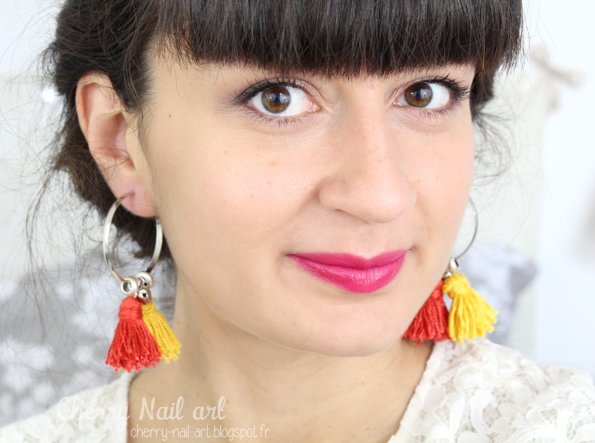 diy boucles d'oreilles pompon personalisables créoles