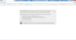 Private browsing in Google crome