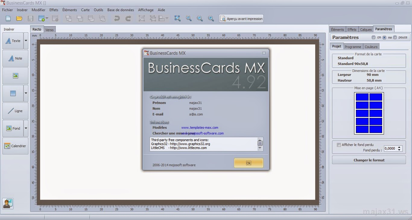 Majax31 businesscards mx 494 inclus serial software businesscards mx 494 inclus serial software reheart