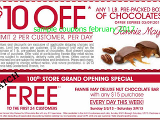 Fannie May coupons february