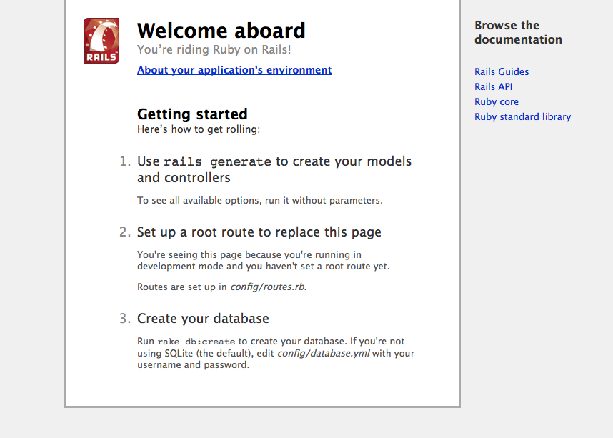Rails welcome aboard