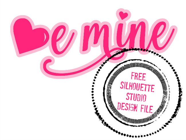 this week im sharing a free be mine design thats perfect for valentines day - Free Valentines