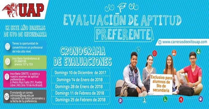 RESULTADOS Examen De Aptitud Preferente UAP 10 Diciembre 2017