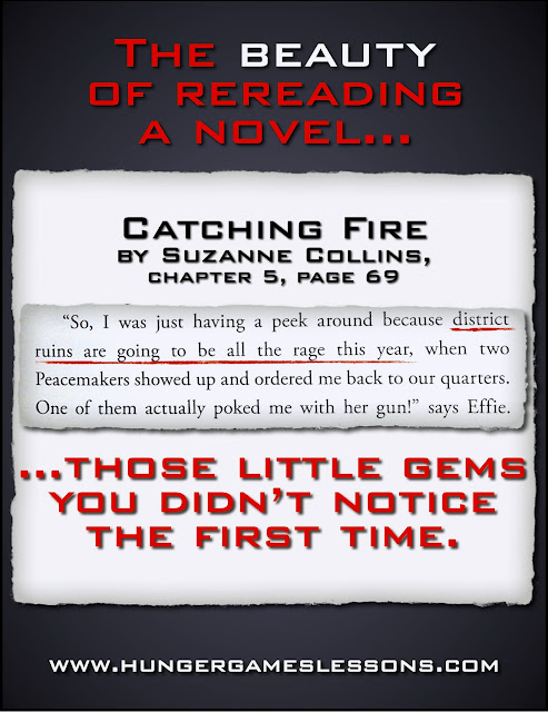 The beauty of rereading a novel... #CatchingFire www.hungergameslessons.com