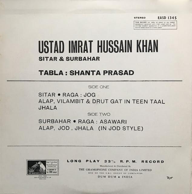 Hindustani Raga Indian music musique indienne sitar surbahar tabla
