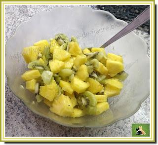 Vie quotidienne de FLaure : Salade de fruits ananas, kiwi et gingembre