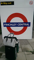 Luggage at Finchley Central Tube Station