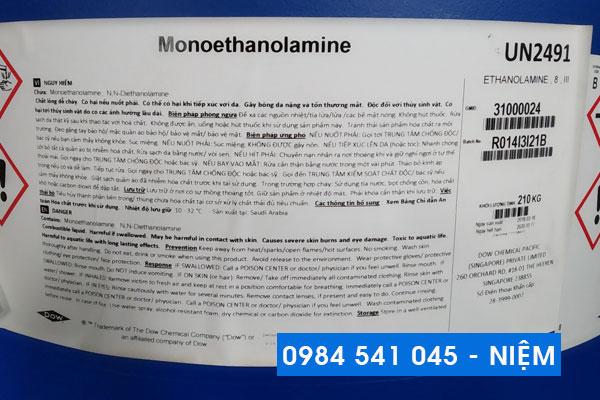 Dung môi công nghiệp Monoethanolamine