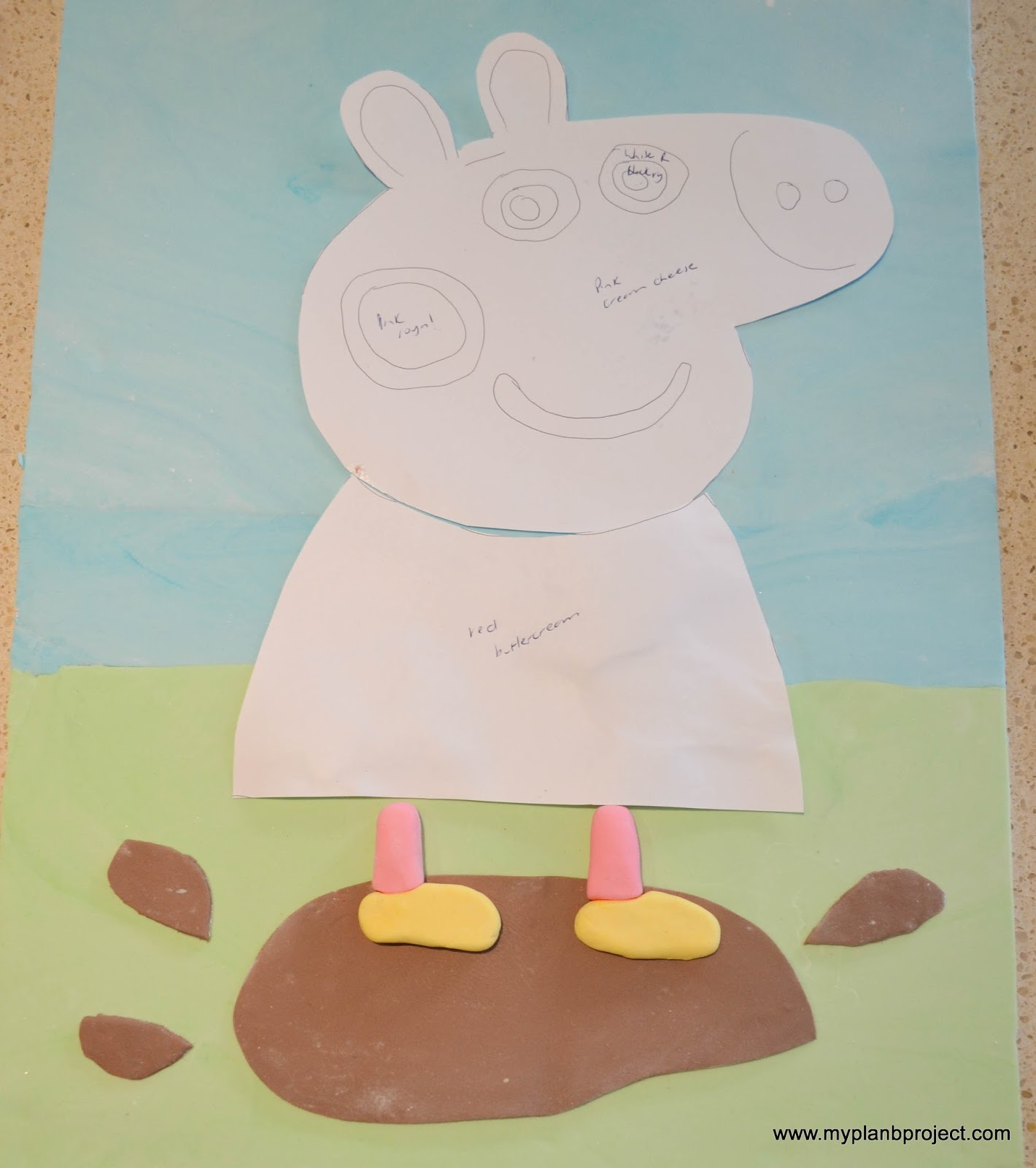 My plan b project peppa pig birthday cake for Peppa pig cake template free