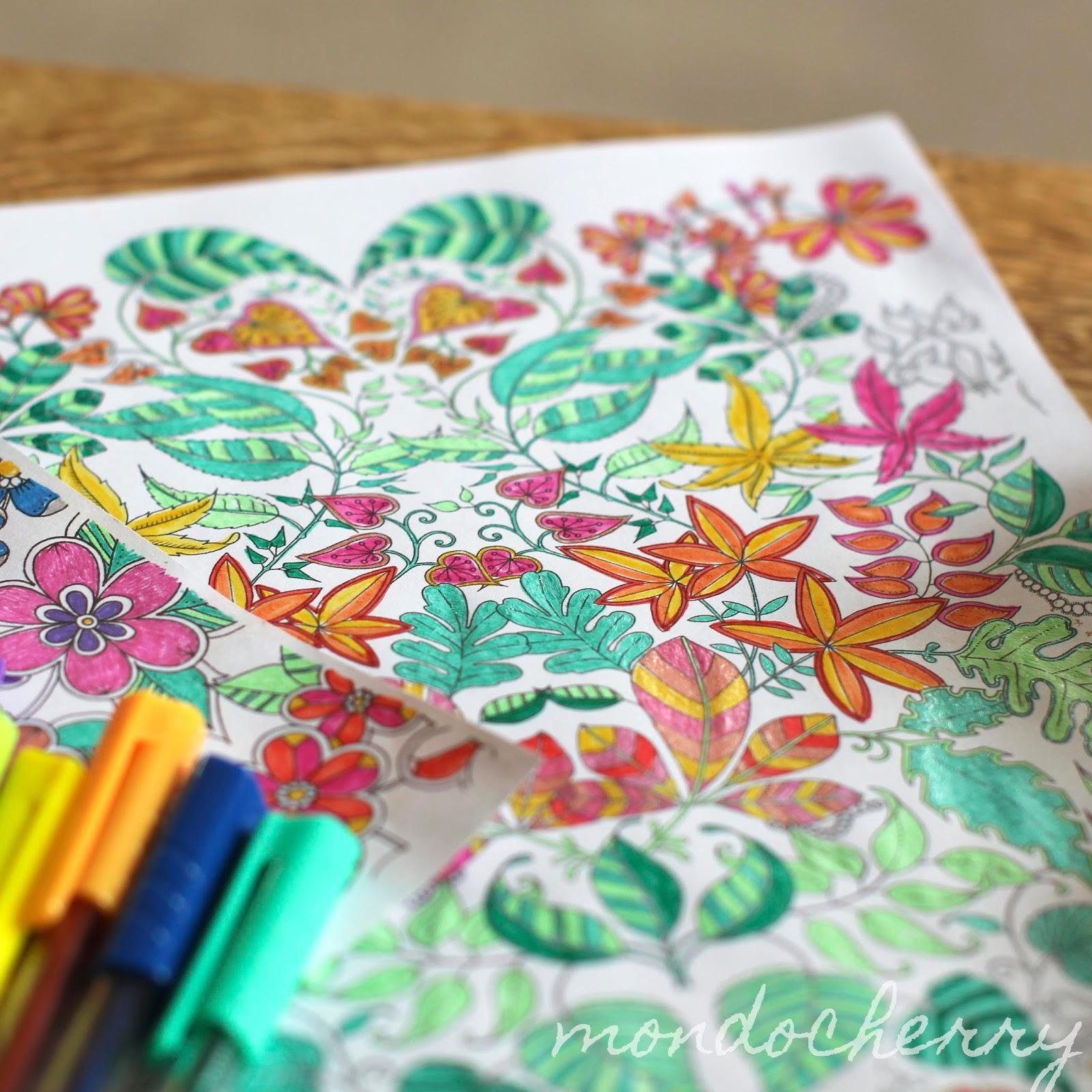 The Secret Garden Coloring Book Pens Thestout