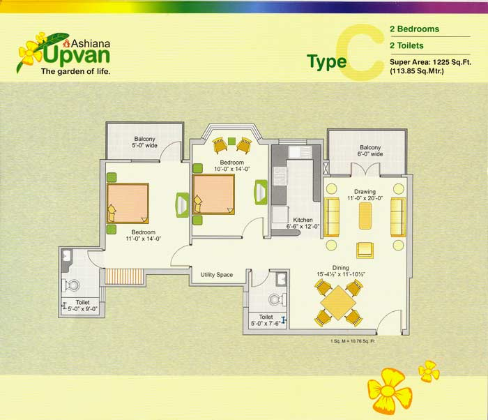 Ashiana-upvan-floor-plan-1225-sq-ft