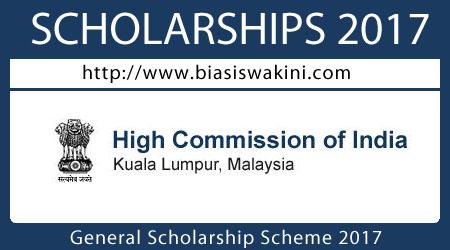 General Scholarship Scheme 2017