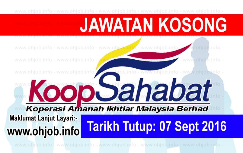 Jawatan Kerja Kosong Koperasi Amanah Ikhtiar Malaysia Berhad logo www.ohjob.info september 2016