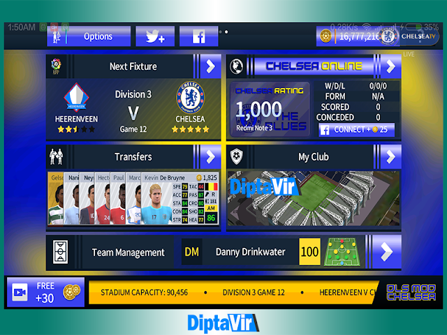 Dream League Soccer 2018 MOD Chelsea Apk V5.05 Mod By Diptavir