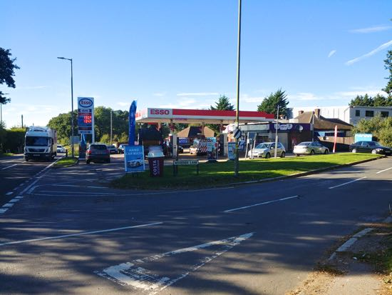 Photograph of The Esso garage at the junction of Woodside Lane and the A1000 Image by North Mymms News, released under Creative Commons BY-NC-SA 4.0