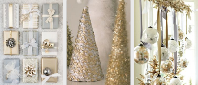 Silver and Gold decorations for the holidays