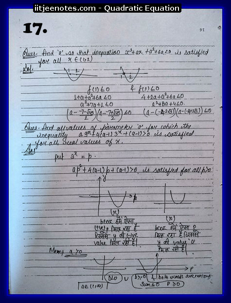 quadratic equation notes3