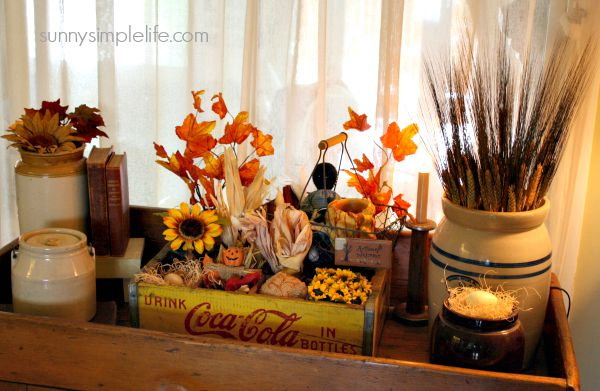 Sunny simple life fall home tour 2015 for Fall decorations for home