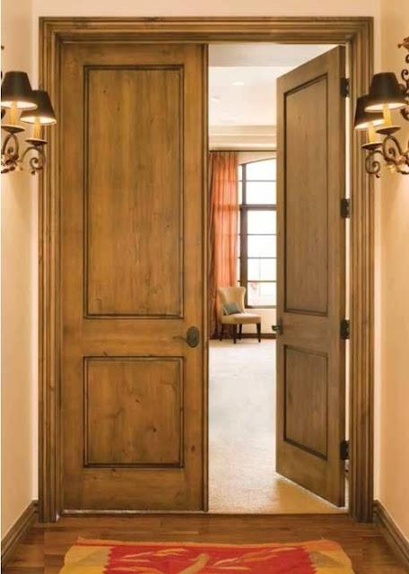 image result for alder wood elegant two panel doors