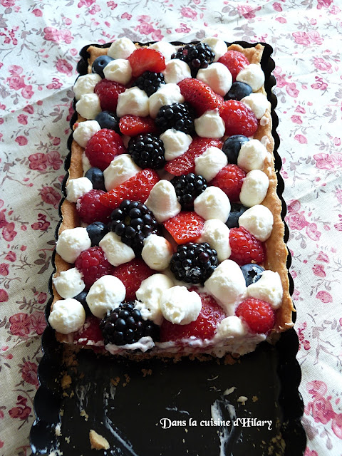 Tarte aux fruits rouges et chantilly mascarpone vanillée