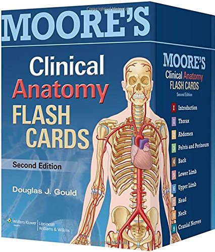 Anaesthesia Database Moores Clinical Anatomy Flash Cards Cards