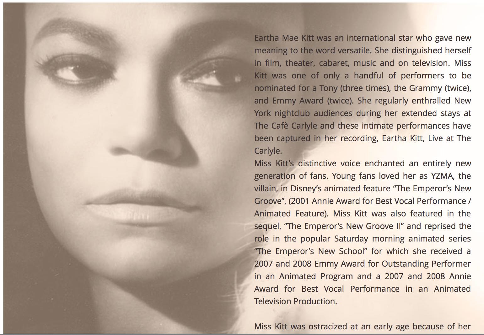 Eartha Kitt Ethnicity
