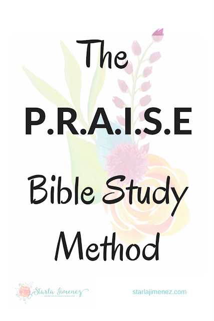 Introducing the PRAISE Bible Study Method : FREE Printable