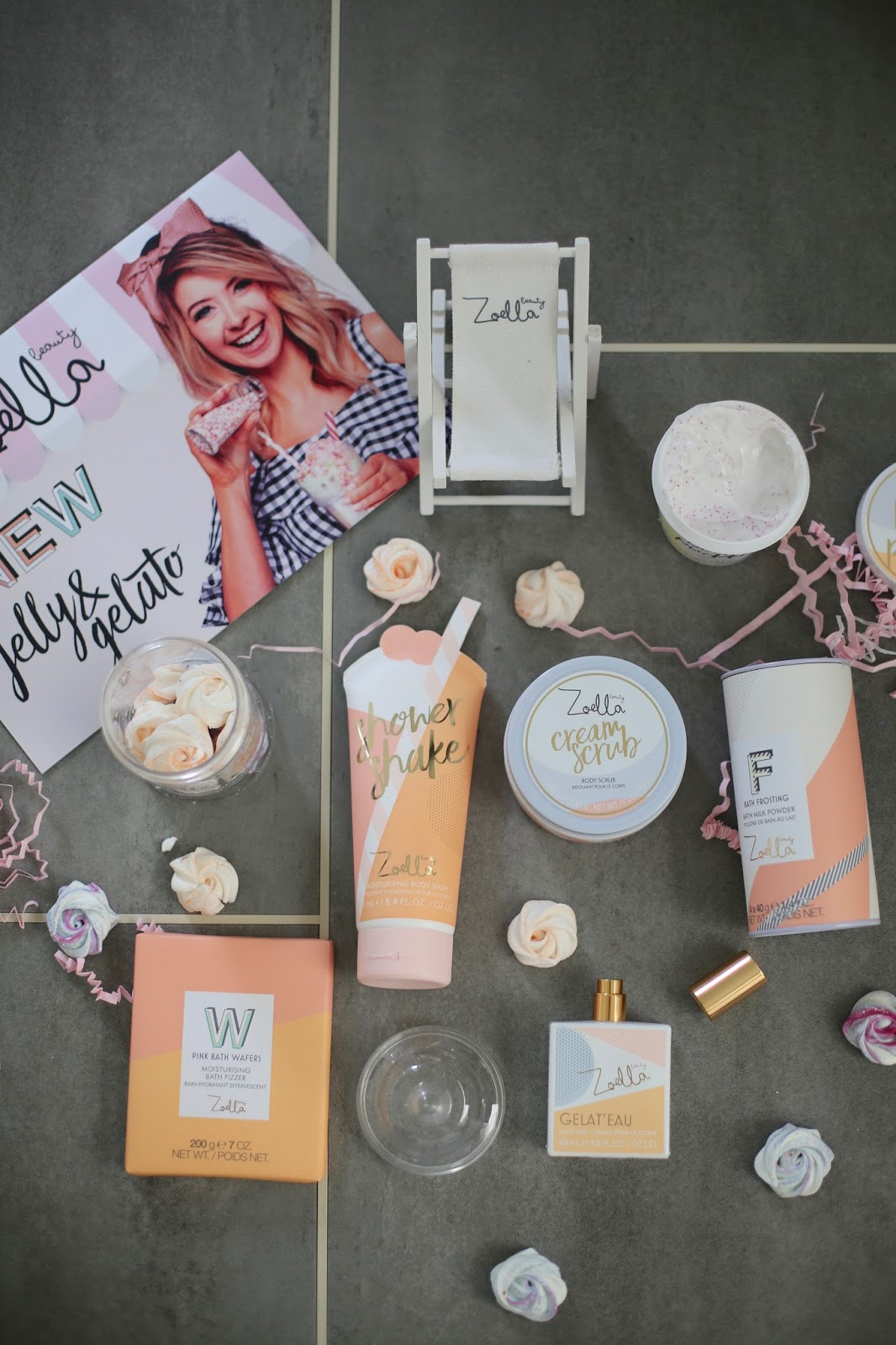 Zoella Beauty New Jelly And Gelato Range Review flatlay
