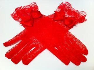 kırmızı dantel eldiven satın al