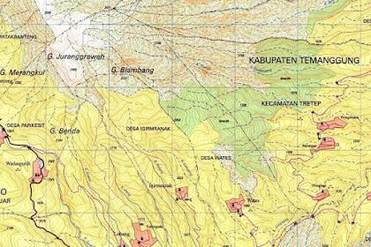 Download Peta RBI Kejajar - Gunung Prau Via Wates dan Via Kendal