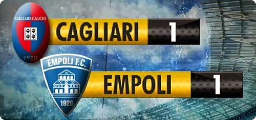 CAGLIARI EMPOLI 1-1 HIGHLIGHTS VIDEO GOL