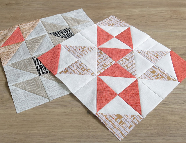 HST Quilt-Along - Blocks #11 - #12 - Carolyn Friedlander fabrics