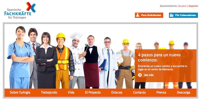 Spanische Fachkräfte für Thüringen, ayuda para encontrar trabajo cualificado en Turingia (Alemania)