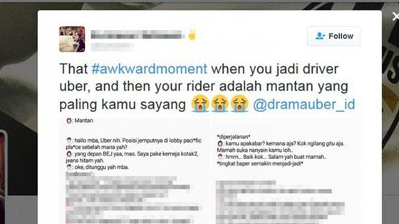 Kisah Driver Uber Antar Mantan Pacarnyanya Ini Jadi Viral