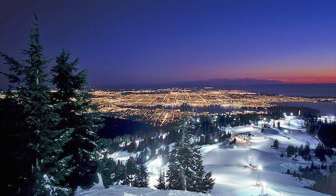 Mountain skiing in Canada