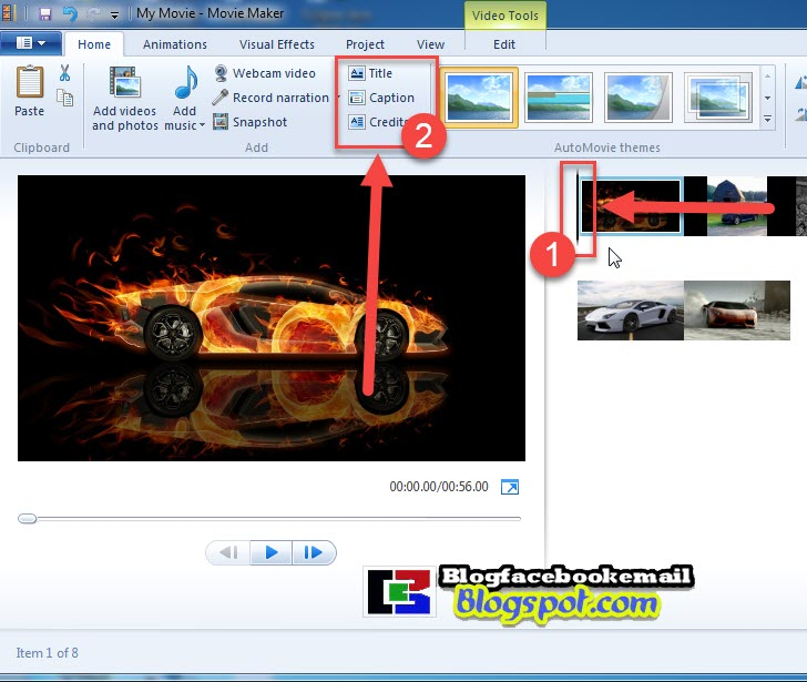 menambahkan judul video ke movie maker