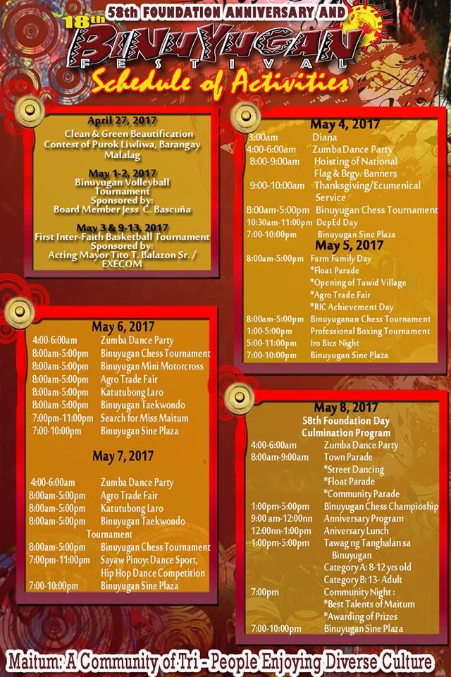 It's Binuyugan Festival in Maitum!