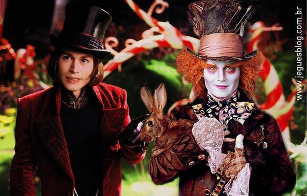 Willy Wonka (A Fantástica Fábrica de Chocolate) e Chapeleiro Maluco (Alice no País das Maravilhas)