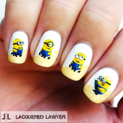 Minion Nail Art - Lacquered Lawyer Nail Art Blog: Minions