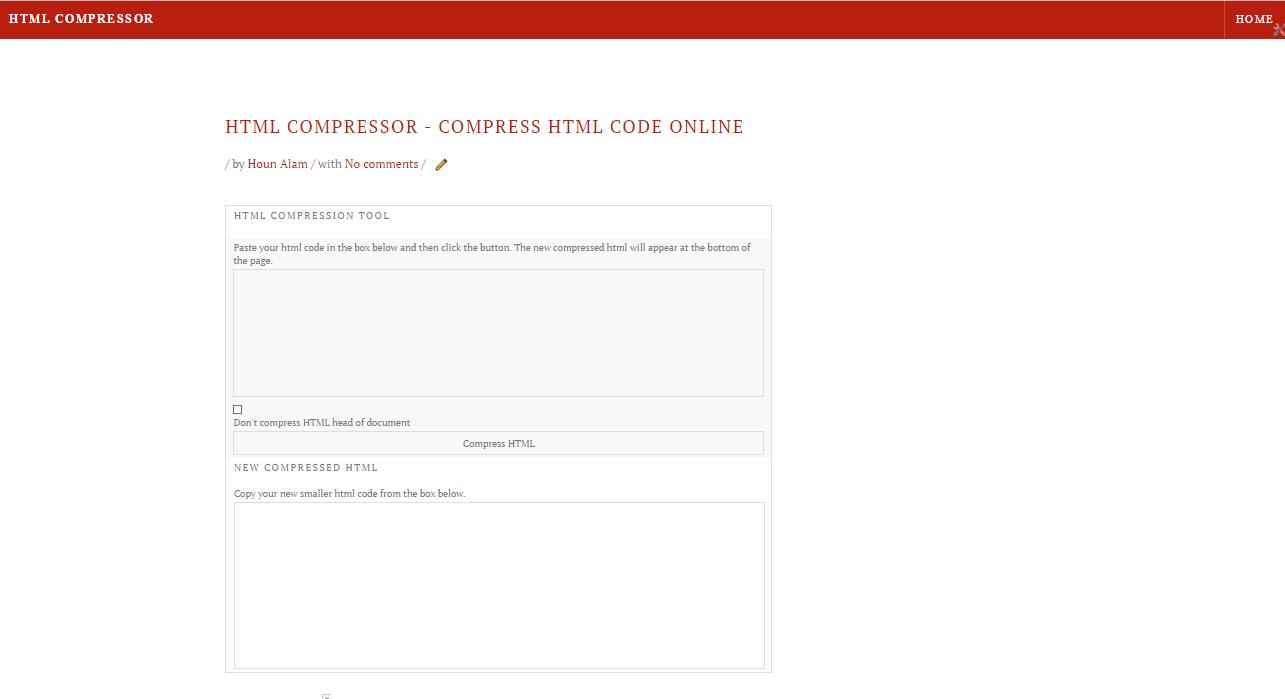 HTML compressor - html tool