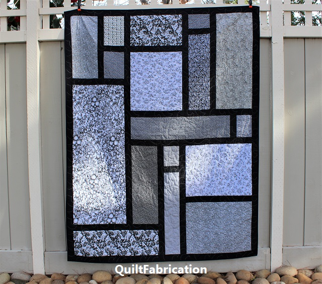 Paradise 9, a free form pieced quilt by QuiltFabrication