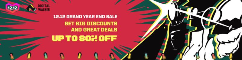 Sale Alert: Digital Walker joins 12.12 campaign of Shopee and Lazada!