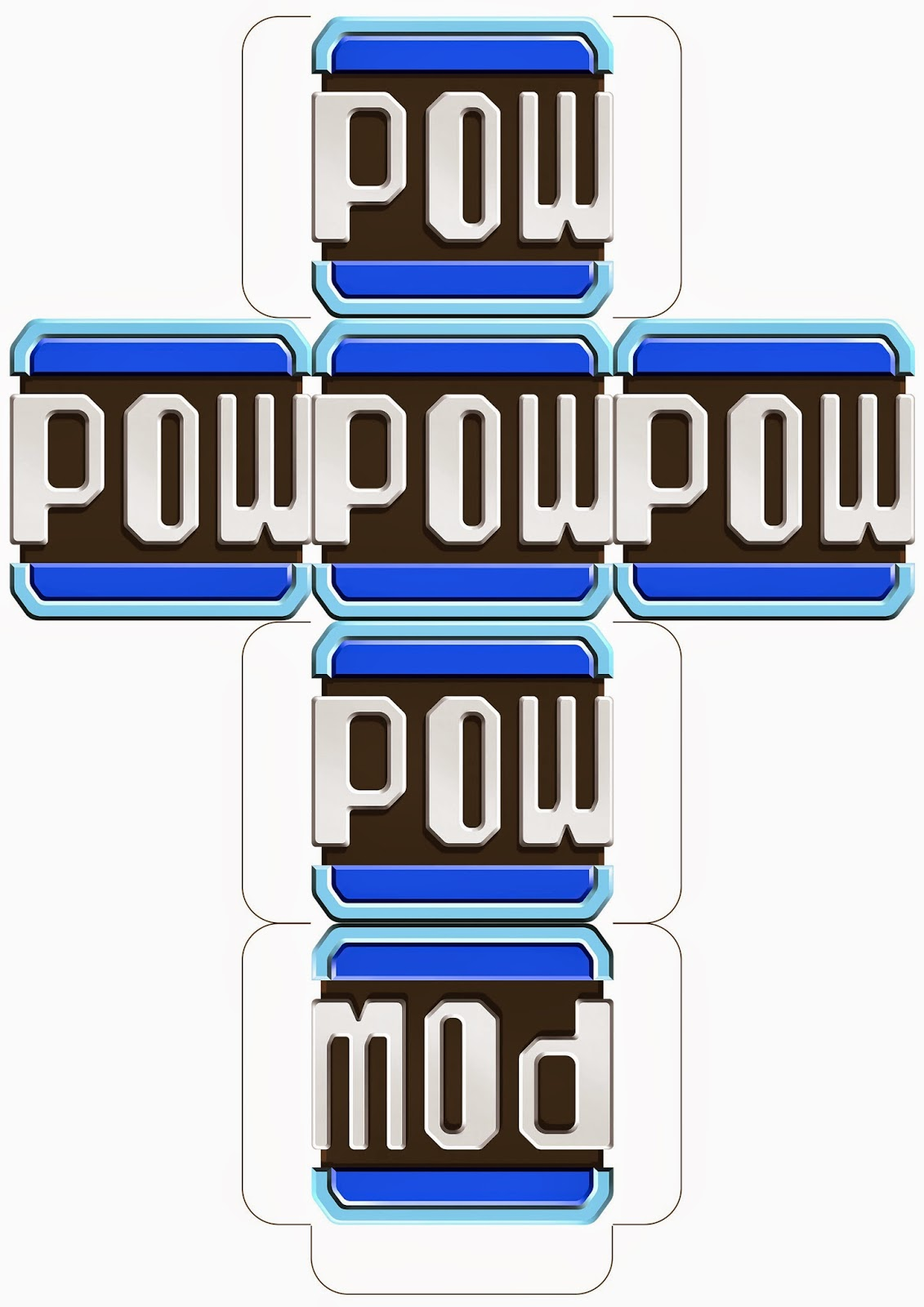 Super Mario Downloadable Pow Block Template