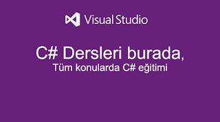 Yazılım Dersleri Visual Studio C# - 6