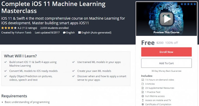 [100% Off] Complete iOS 11 Machine Learning Masterclass| Worth 200$