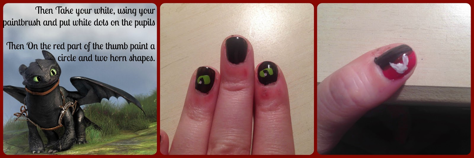 How To Train Your Dragon Nail Art Cherry Blossom